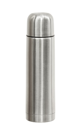 thermos: Thermos flask isolated on white background Stock Photo