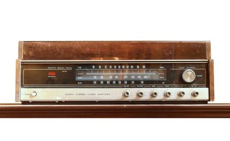 phono: Retro radio isolated on white background Stock Photo