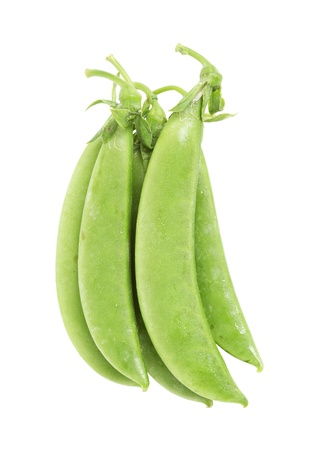 snap: Chinese sugar pea isolated on white background