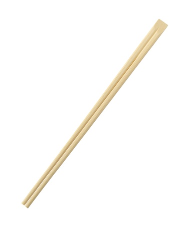 disposable: Disposable chopsticks isolated on white background