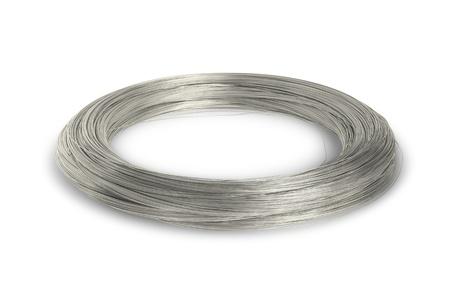 Aluminium-Draht Isoliert Auf Weißem Hintergrund Lizenzfreie Fotos ...