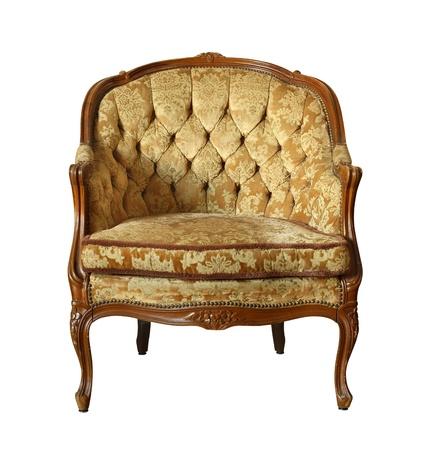 Vintage velvet chair isolated on white background Stock Photo - 15099602