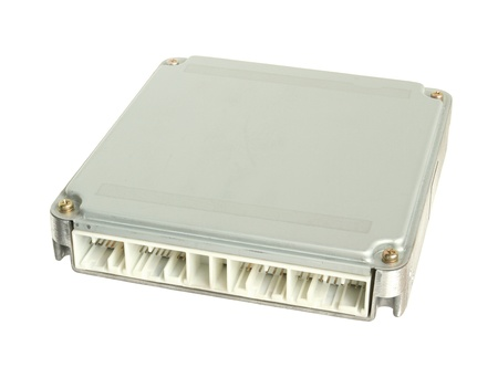 Car engine control unit (ECU) isolated on white background 스톡 콘텐츠