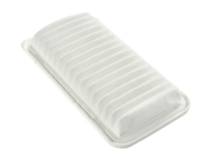 new filter: Car air filter isolated on white background