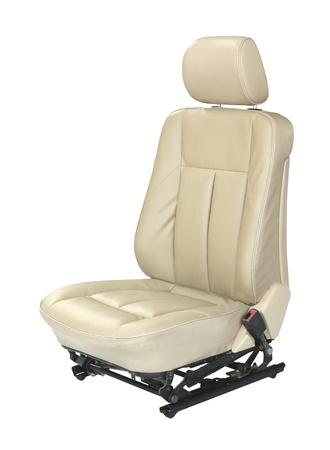 seat: Asiento de coche aislado sobre fondo blanco