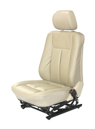 Car seat isolated on white background photo
