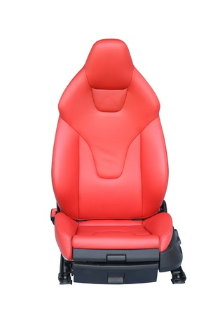 Luxury leather car seat isolated on white background photo