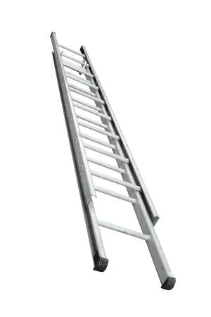 Aluminum stepladder isolated on white background Standard-Bild