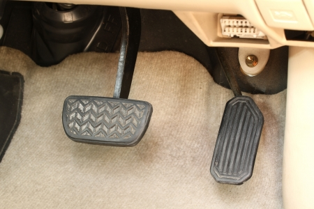 brakes: Brake pedal and accelerator