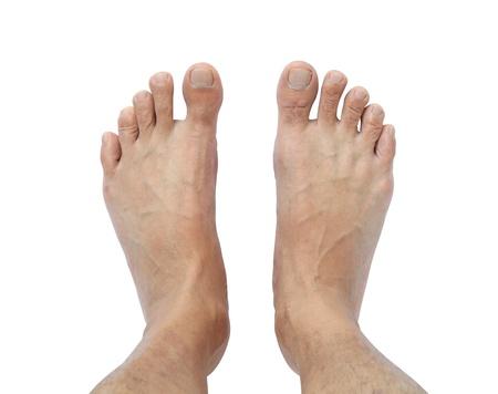 Männliche Füße isoliert auf weißem Hintergrund Standard-Bild - 16257099