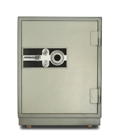 combination: Safe box isolated on white background