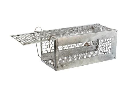 Mousetrap (Rattenkäfig) isoliert auf weißem Hintergrund Standard-Bild - 17337520