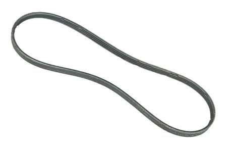 Bad engine belt isolated on white background photo