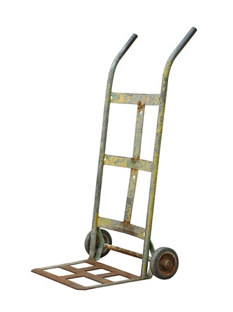 Hand truck isolated on white background photo