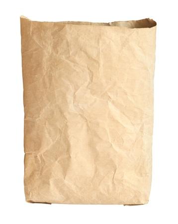 cemento: Bolsa de cemento aislado en el fondo blanco Foto de archivo