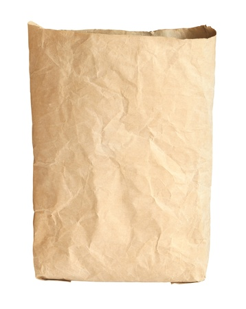 construction paper: Cement bag isolated on white background