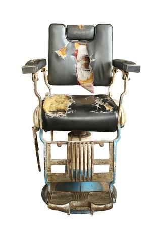 Weinlese-barber chair isoliert auf weißem Hintergrund Standard-Bild - 18654450