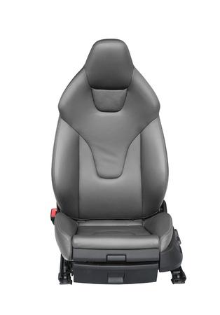 Luxury leather car seat isolated on white background Standard-Bild