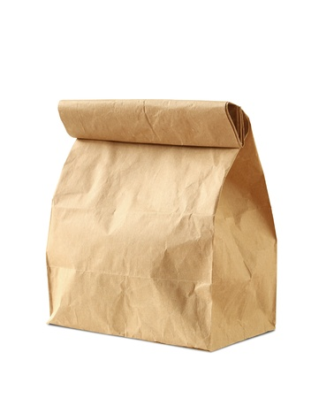 Brown: Lunch bag isolated on white background