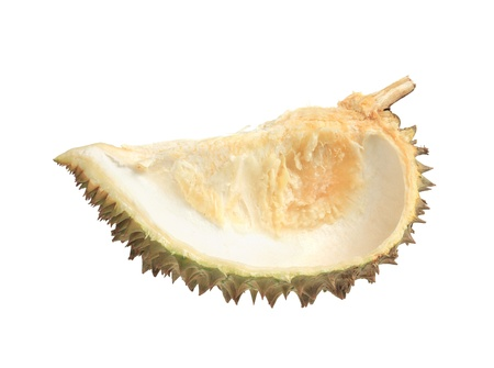 Durian fruit shell isolated on white background photo