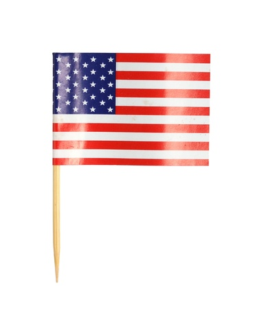 toothpick: America flag toothpick isolated on white background