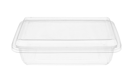 plastic box: Plastic food box isolated on white background