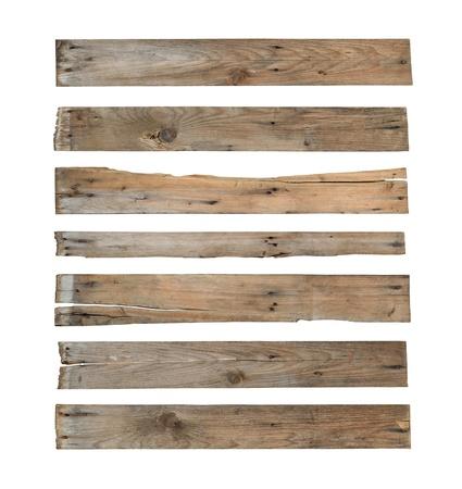 Wood Plank (mit Clipping-Pfad) auf weißem Hintergrund Standard-Bild - 21425644