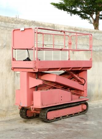 scaffolds: Lifting machine Stock Photo