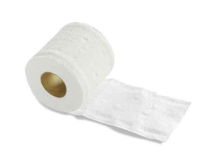 Tissue roll  isolated on white background photo