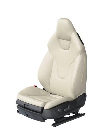 car seat: Luxury leather car seat isolated on white background Stock Photo