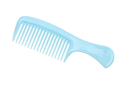 plastic comb: Hair comb isolated on white background Stock Photo