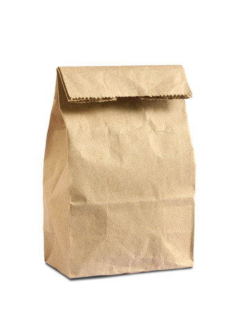 Lunch bag isolated on white background photo