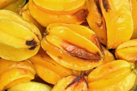 carambola: Rotten star fruit (carambola) Stock Photo
