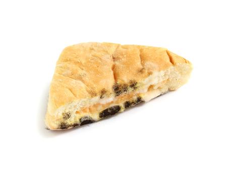 moldy: Moldy food isolated on white background