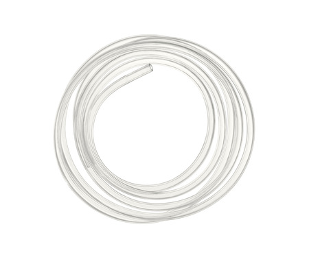 Water hose isolated on white  Stock Photo