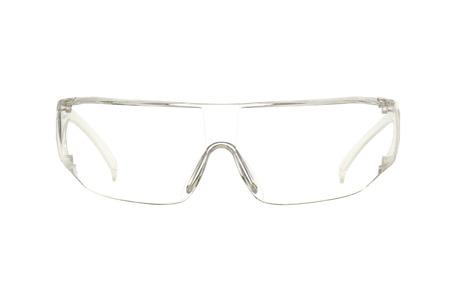 Schutzbrille auf weißem