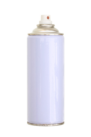 cylinder: Spray paint can  isolated on white