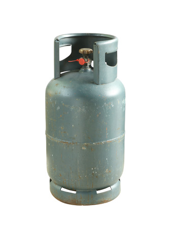 gas cylinder: Gas cylinder isolated on white