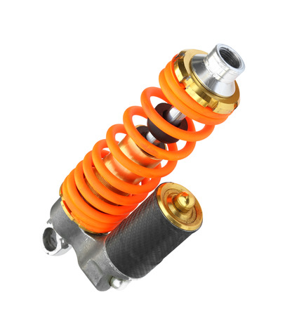 absorber: Colorful shock absorber isolated on white background