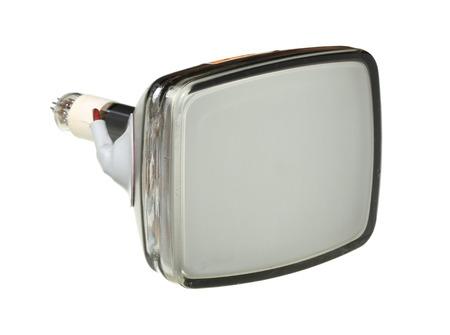 cathode: Cathode ray tube (CRT) isolated on white
