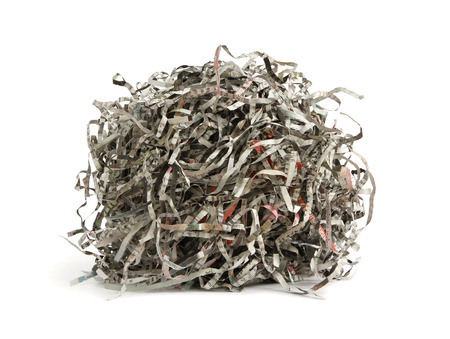 shred: Paper scrap of newspaper isolated