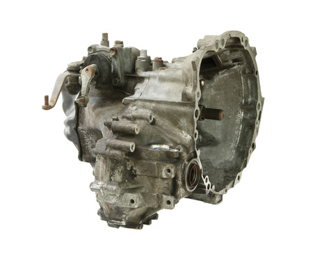 gearbox: Manual transmission or transaxle isolated on white background Stock Photo