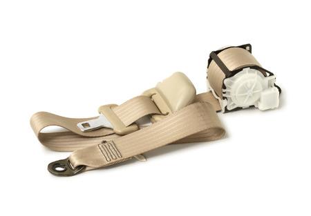 seatbelt: Safety belt isolated on white background Stock Photo
