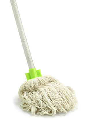 Mop isoliert auf weißem Hintergrund Standard-Bild - 29090378