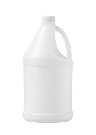 Envase de plástico (con trazado de recorte) aislado en blanco