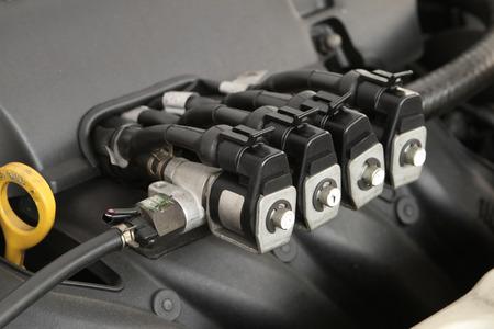 CNG NGV gas injector voor alternatieve brandstof Stockfoto