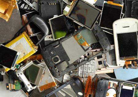 Pile of mobile phone scrap Standard-Bild
