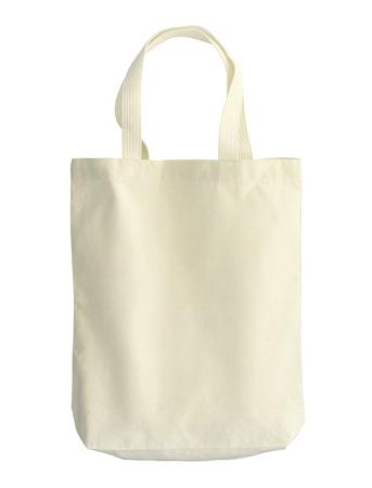 Baumwolltasche (mit Beschneidungspfad) isoliert auf weißem Hintergrund Standard-Bild - 34355933