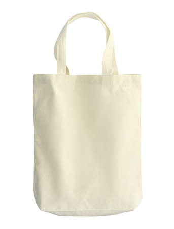 fabric bag: Cotton bag (with clipping path) isolated on white background