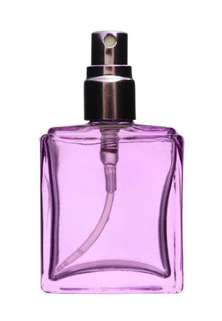 Perfume spray bottle isolated on white background